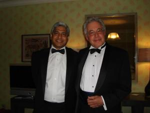 The trappings of success: Peter with Vikas Swarup