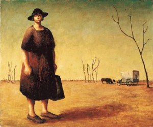 The Drover's Wife by Drysdale